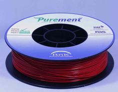 Antibacterial 3D printing filament, Purement, in Red www.cleanstrands.com