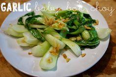 baby bok choy sauteed with garlic, yum!
