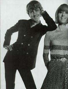 Tara Browne and his wife Nicky photographed by Michael Cooper for Men In Vogue in November 1966
