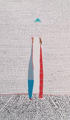 """FELIPE GIMENEZ """"Les llego el tiempo de que empiecen a hablar sus silencios"""" Umbrella Painting, Under My Umbrella, Surfboard, Valencia, Illustration, Happy, Projects, Collage, Sentences"""