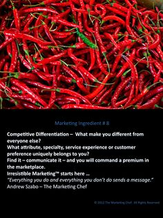 # 008 What makes you different from your competition BUT still relevant to your target market?