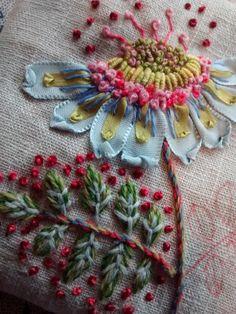 Wonderful Ribbon Embroidery Flowers by Hand Ideas. Enchanting Ribbon Embroidery Flowers by Hand Ideas. Silk Ribbon Embroidery, Crewel Embroidery, Embroidery Patterns, Embroidery Books, Embroidery Supplies, Embroidery Bracelets, Modern Embroidery, Flower Embroidery, L'art Du Ruban