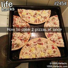 Food hack- Noch nicht ausprobiert, aber etwas unlogisch oder? Da die pizzen ja noch aufgehen und ein bisschen größer werden...?