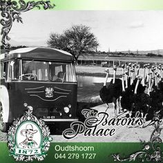 For decades Oudtshoorn has been a destination that has fascinated tourists. Baron's Palace Throwback Thursday shows the old transport used to reach our beautiful town. South African Railways, Road Transport, Log Fires, Wooden Staircases, Palace Hotel, Old World Charm, Throwback Thursday, Transportation, Old Things