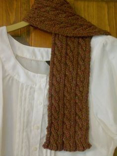 Reversible CableKnit Scarf by Maggiesbarnyard on Etsy, $30.00