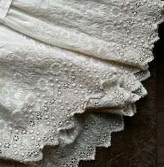 Antique Broderie Anglaise Christening Gown by marybethhale on Etsy