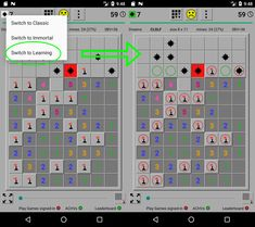Use this Special mode (one of several) to learn what tiles are logically safe and with a mine. It is available during the game, but even after the game is over . to learn. The Game Is Over, Game App, Google Play, Tiles, Dreams, Learning, Wall Tiles, Tile, Teaching