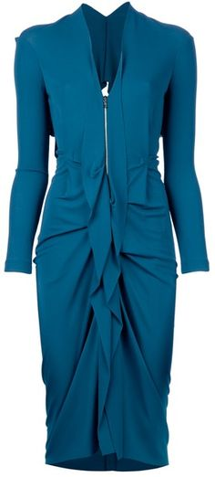 ROLAND MOURET Darch Dress. Great mix of structure and frill!