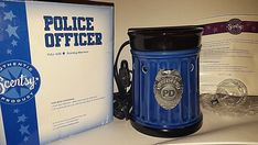 Police Officer LEO Badge Full Size Scentsy Warmer Hero Collection Back The Blue #Scentsy