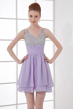 Homecoming Dresses A-Line Sweetheart Sleeveless Empire Zipper Short/Mini Chiffon Beading