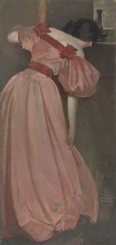John White Alexander, Portrait Study in Pink (The Pink Gown), 1896