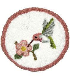 M C G Textiles Pillow Punch Needle Kit Hummingbird