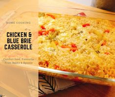  One of my favorite comfort food casseroles that I used to make a lot while I was a student because it is relatively inexpensive, it comes together fast, and it is even better when heated up in a. Casserole Dishes, Casserole Recipes, Root Veggies, Vegetable Stock, Marinated Chicken, Blue Cheese, Brie, Spoons, Macaroni And Cheese