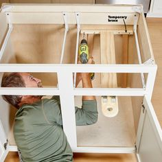 Kitchen Cabinet Storage Solutions: DIY Pot and Pan Pullout Refacing Kitchen Cabinets, Kitchen Cabinet Remodel, Kitchen Cabinet Storage, Storage Cabinets, Kitchen Organization, Soapstone Kitchen, Kitchen Counters, Plywood Cabinets, Built In Cabinets