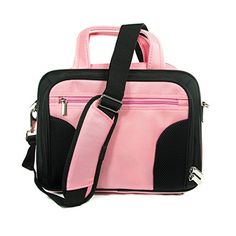 Exxist Nylon Laptop Tablet Carrying Shoulder Case Messenger Bag with Strap fits Samsung Galaxy Note Pro 122 LTE  Galaxy Tab 2 101 P5100  Galaxy Tab Pro 122 Color Pink >>> Click on the image for additional details.