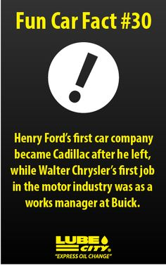 Henry Ford S First Car Company Became Cadillac After He Left While Walter Chrysler Job