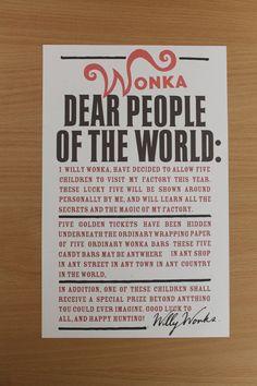 Wonka Poster Printable Digital Download