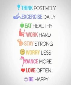 Think positively. Worry less. Dance more. Be happy :)Fitness and health motivation. Citation Motivation Sport, Fitness Motivation, Daily Motivation, Fitness Quotes, Motivation Inspiration, Fitness Inspiration, Quotes Motivation, Workout Fitness, Fitness Works