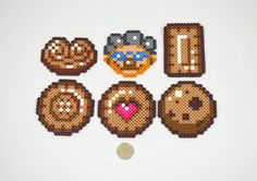 Cookies and Grandma Perler Beads by MsVilecatShoppe