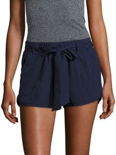 ANDREW MARC Solid Tie-Up Shorts. #andrewmarc #cloth #shorts