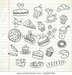 Food doodles Related posts: Girls Power lettering with girly doodles for valentines day card design, girl… 25 Floral Doodles for. Doodle Drawings, Doodle Art, Easy Drawings, Doodle Inspiration, Bullet Journal Inspiration, Food Doodles, Doodle Lettering, Sketch Notes, How To Draw Hands