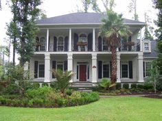 Southern house plans, southern porches, southern style homes, southern livi Southern Style Homes, Southern Porches, Southern Mansions, Southern Plantations, Plantation Style Homes, Southern Plantation Style, Southern Living House Plans, Mount Pleasant, Low Country