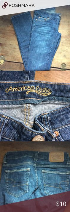 AE straight leg jeans In great condition American Eagle Outfitters Jeans Straight Leg