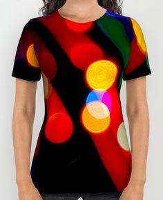 Bokeh Christmas Lights With Light Trails All Over Print T-Shirt https://society6.com/product/bokeh-christmas-lights-with-light-trails_print #lights #christmas #trails #festive #tshirt #cool #fashion #style #photography #pretty #movement