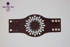 SALE Leather Bracelet cuff Leather Cuff Ladies por PikBracelet