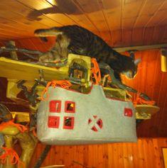 www.domusfelis.com - DomusfeliS - special playzone for cats - #catcastle #cattower #catcondo #cattoy #playzoneforcats #catgift #catlovers La splendida Frida (gatta del bengala F3 di 16 anni!!!) testa la DomusfeliS 05. Un melo di quasi tre metri regge una balconata a ringhiera sui suoi rami. Rami, Reggio, Flare