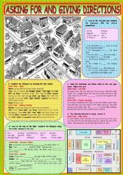 english worksheet giving directions places in town english pinterest worksheets and english. Black Bedroom Furniture Sets. Home Design Ideas