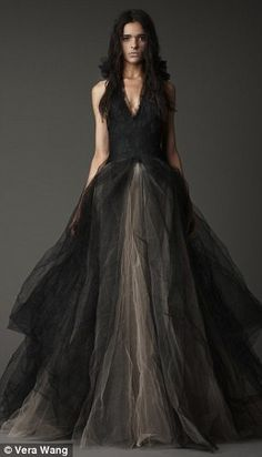 Vera Wang's latest romantic and contemporary creation - the black wedding gown!
