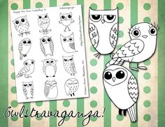 OWL-Stravaganza Pattern for Hand Embroidery. $8.00, via Etsy.