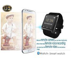 U3 Bluetooth Smart Wrist Watch Phone For IOS Android iPhone Samsung HTC Black #UnbrandedGeneric