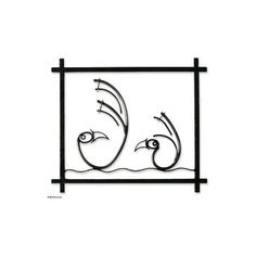 NOVICA Steel wall art (925 NOK) ❤ liked on Polyvore featuring home, home decor, wall art, black, wall accents, wall decor, black wall art, abstract bird paintings, black home decor and bird wall art