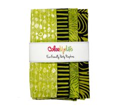 Color up your next event with our Eco-Friendly Party Napkins. Individualized for each guest with four coordinating batik prints! Party Napkins, Cocktail Napkins, Napkins Set, Thing 1, Green Table, Batik Prints, Black Party, Cloth Napkins, Hostess Gifts