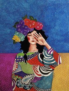 Pinzellades al món: Dones il·lustrades per Hülya Özdemir / Mujeres ilustradas / Women illustrated by Hülya Özdemir Art And Illustration, Illustration Inspiration, Illustrations And Posters, Portrait Art, Portraits, Love Art, Painting & Drawing, Sketch Drawing, Art Inspo