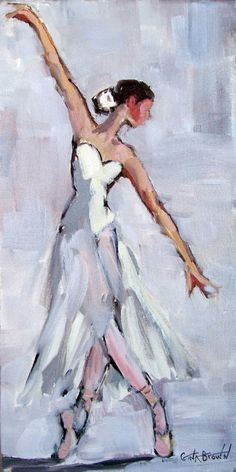 Impressionistic Ballerina Painting by artist Gina Brown