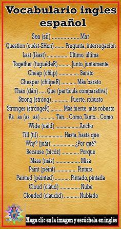 How To Learn Spanish Kids Children Spanish Notes, Spanish Phrases, Spanish Language Learning, English Vocabulary Words, Learn English Words, Spanish Lessons, How To Speak Spanish, Teaching Spanish, English Lessons