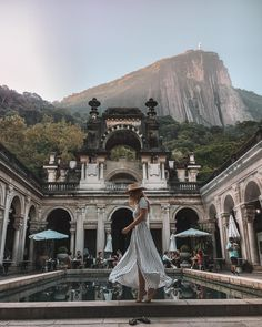 Dance at the Parque Lage & Corcovado View On The Top 🇧🇷↟ —- Dress 📸 by Pedro —- Oh The Places You'll Go, Places To Travel, Places To Visit, Travel Pictures, Travel Photos, Rio Photos, Peru Ecuador, Visit Brazil, Brazil Travel