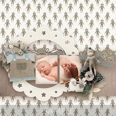 Digital Scrapbooking Kits   Babys First Year-(MemMos)   Babies, Celebrations, Family, Memories   MyMemories Neutral Colour Palette, Family Memories, Paint Shop, Photoshop Elements, Easy Install, First Year, Paper Background, Beautiful Babies