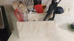 Kitchen Utensil Holder can be made to be any stain or color that you prefer.