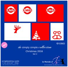Christmas 2016, Simple Christmas, Christmas Gifts, Mini Albums, Project Life, Scrapbook Cards, Boxes, Tags, Free