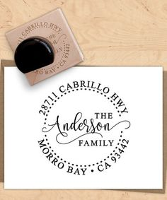 take a look at this black line trail personalized return address