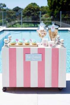 Un bar de helados para una boda muy veraniega
