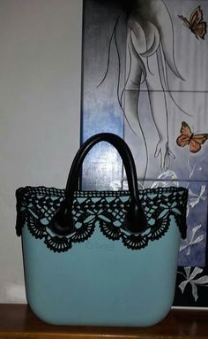 Lace Embroidery, Goodie Bags, Fashion Bags, Creations, Shoulder Bag, Couture, Tote Bag, Purses, Crochet