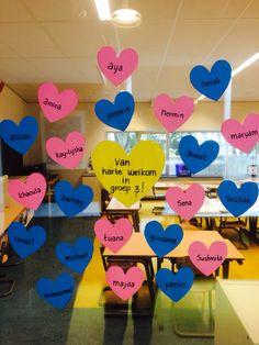Van harte welkom in groep 3! Tekst op de deur om de kinderen welkom te heten in hun nieuwe groep! #startnieuwschooljaar