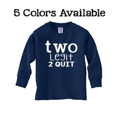 Toddler 2nd Birthday Shirt Long Sleeve SOFT Two by JackOfNone