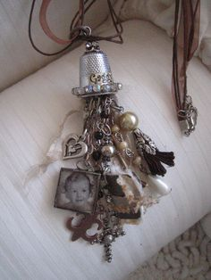 thimble tassel necklace
