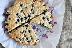 Fed & Fit » Paleo Blueberry Scones